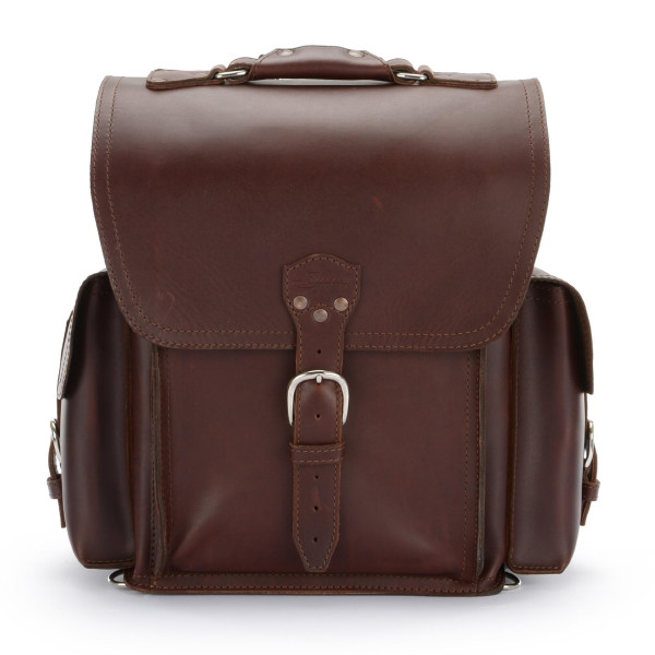 Saddleback Leather Squared Backpack,  Chestnut