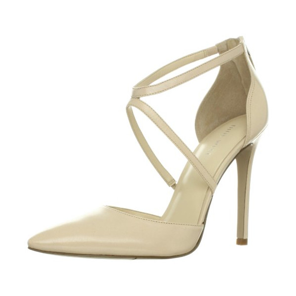Nine West Women's Gee Pump,Off White Leather,10 M US