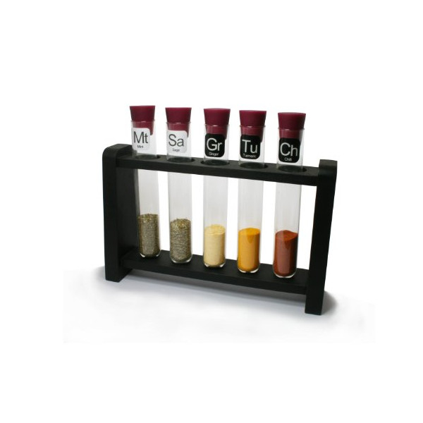 Test Tube Science Chemistry Spice Rack Purple and Natural