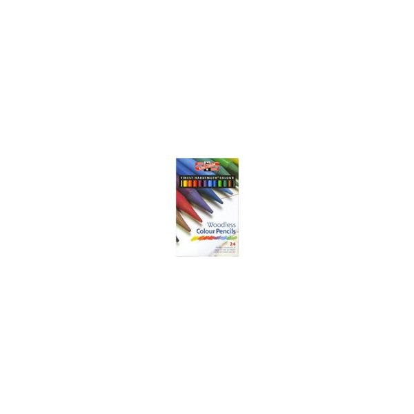 Koh-I-Noor Progresso Woodless Colored Pencils 24 Color Set