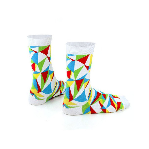 Ashi Dashi Prismo Socks in White (Small)