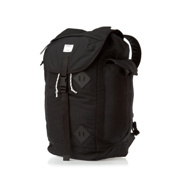 Sandqvist Unisex Edmund Cordura Black Backpack - Black