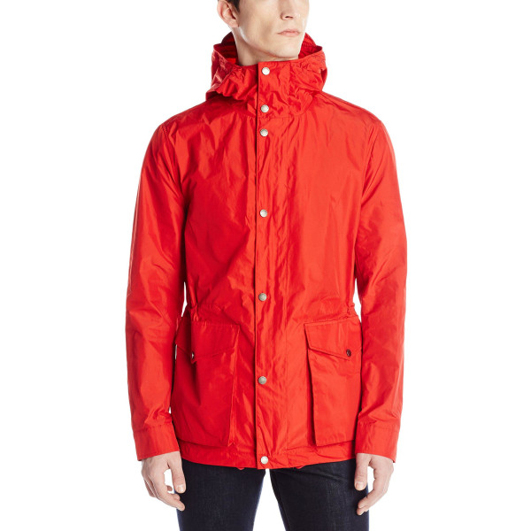 Ben Sherman Men's Hooded Zip Through Cotton Coat