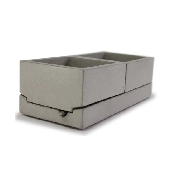 Culinarium - Concrete Spice Caddy - Gray