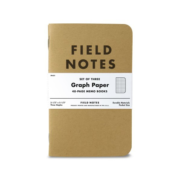 Field Notes Brand Original Graph Paper 3-Pack