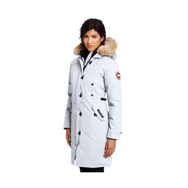 Canada Goose Women's Kensington Parka,White,Small