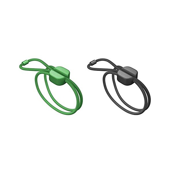 Bluelounge Pixi Medium - Cable Ties - Green & Black