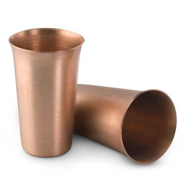 2 Large Solid Copper Moscow Mule Shot Glasses