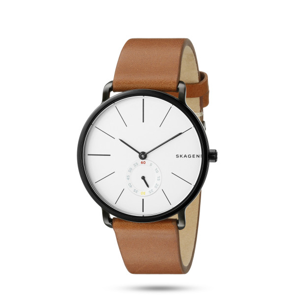 Skagen Hagen Stainless Steel Watch With Leather Band
