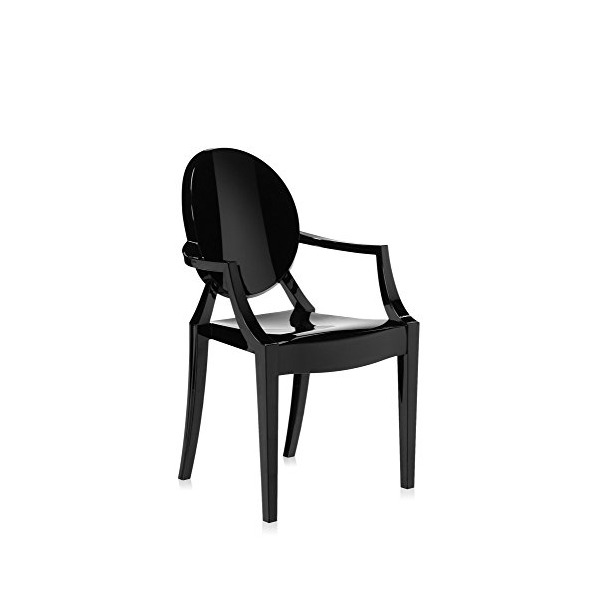 Kartell Louis Ghost Chair - Matte Glossy Black