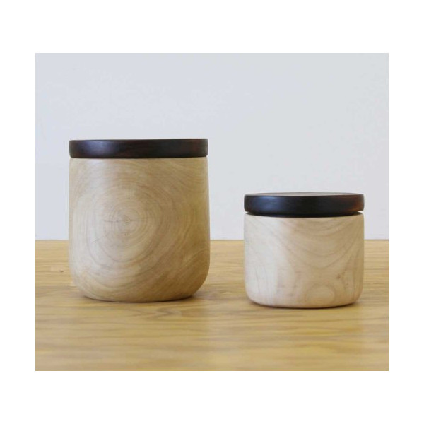 Coffee Root Wood Canister (set of 2)