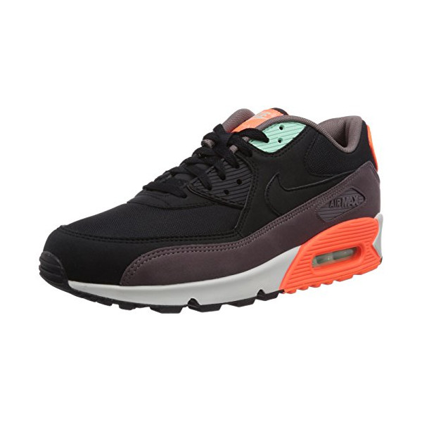 Nike Men's Air Max 90 Essential Black/Black/Hyper Crimson Running Shoe 10 Men US
