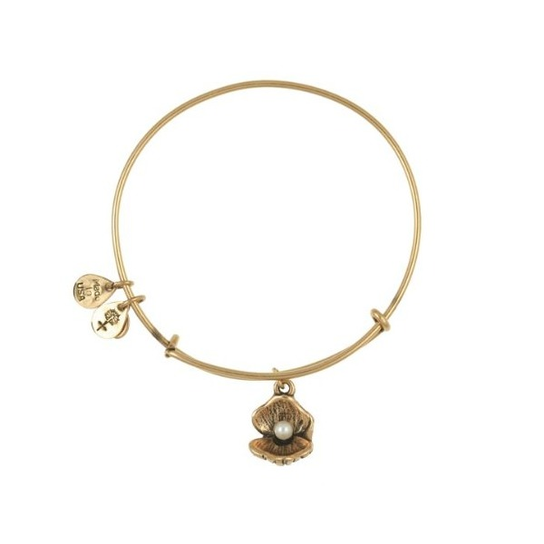 Alex and Ani Oyster Charm Expandable Bangle Bar Bracelet