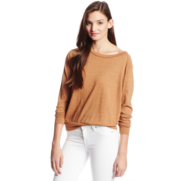 Alternative Eco-Jersey Slouchy Pullover, Rust