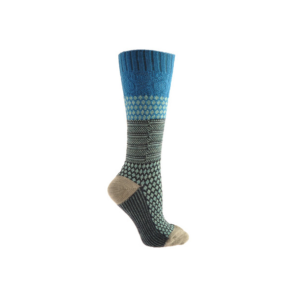 Smartwool Women's Popcorn Cable Socks - Arctic Blue