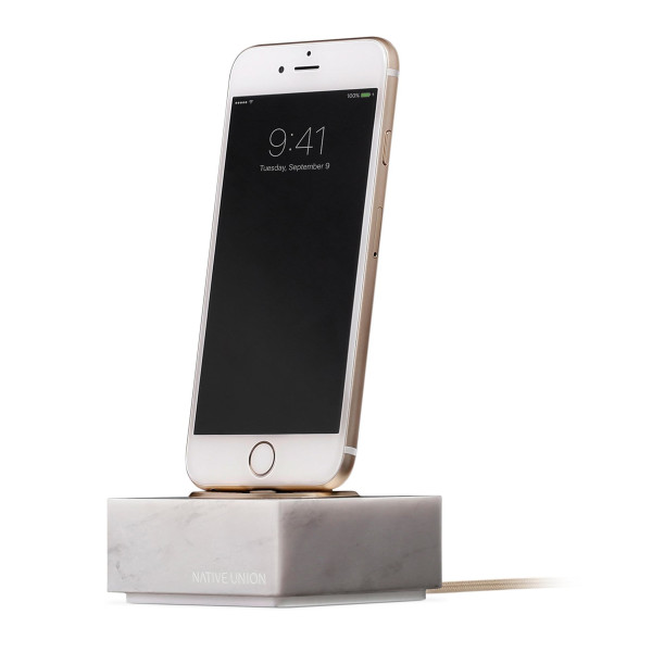 Native Union DOCK+ Marble Edition, White