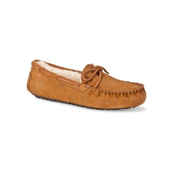 UGG Australia Men's Olsen Suede Slippers, 11, Chestnut