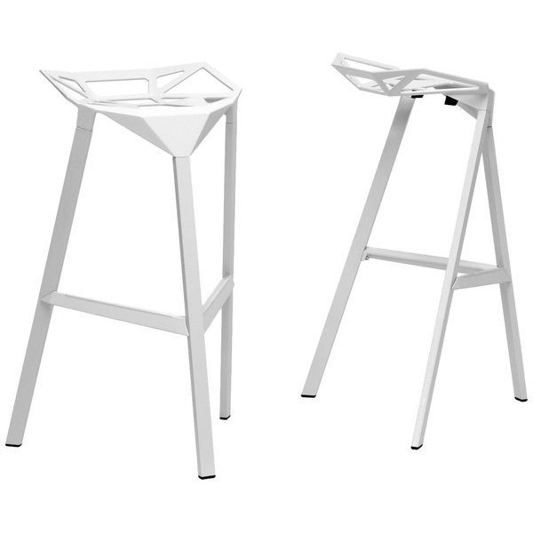 Baxton Studio Kaysa Aluminum Bar Stools, Set of 2