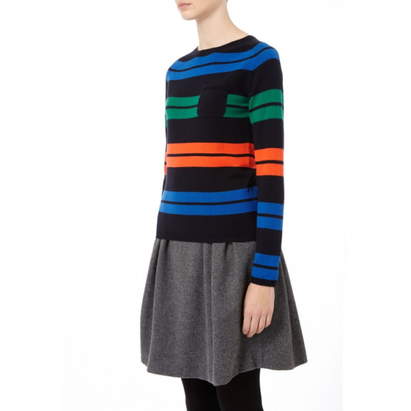 Chinti and Parker Snug Stripe Sweater (X-small)
