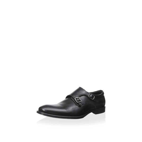 Franklin & Freeman Men's Miller Double Monk Strap, Black, 10.5 M
