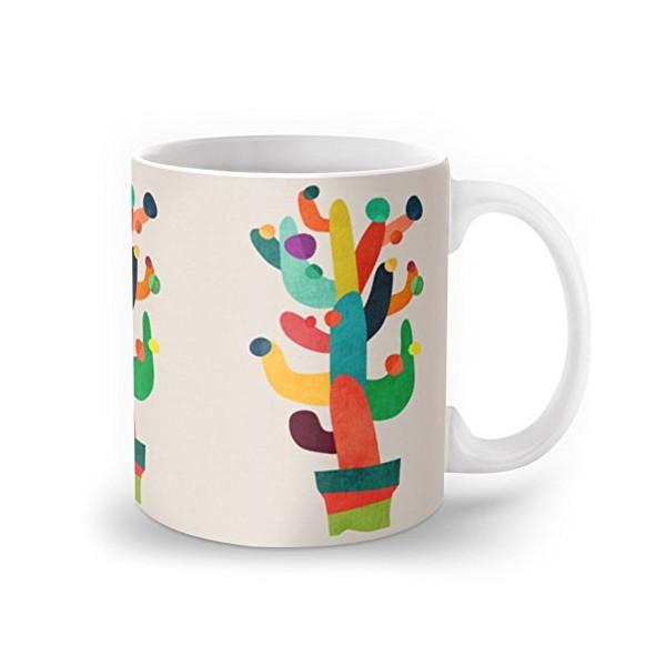 Society6 Whimsical Cactus Mug 11 oz