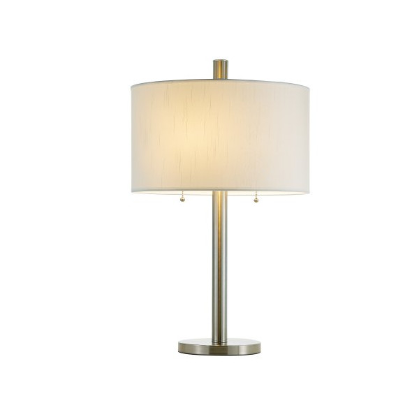 Adesso Boulevard Table Lamp, Satin Steel