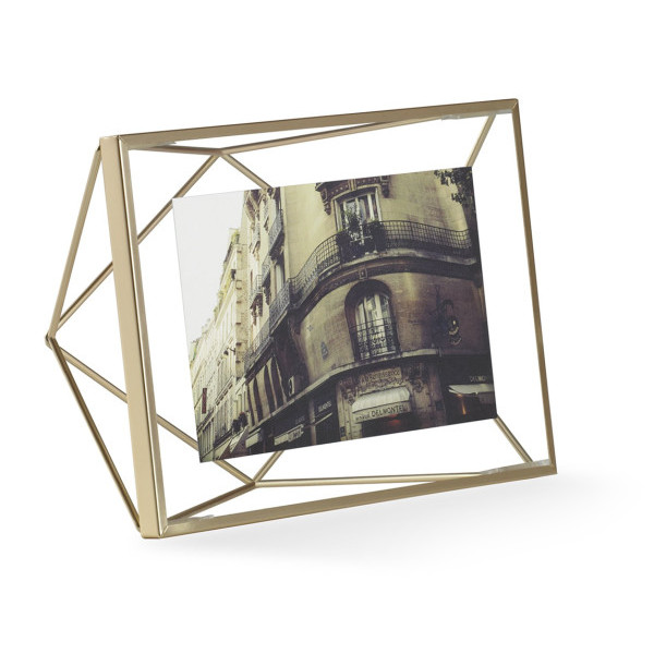 Umbra Prisma 4-Inch by 6-Inch Brass Wire Desktop Frame, Brass