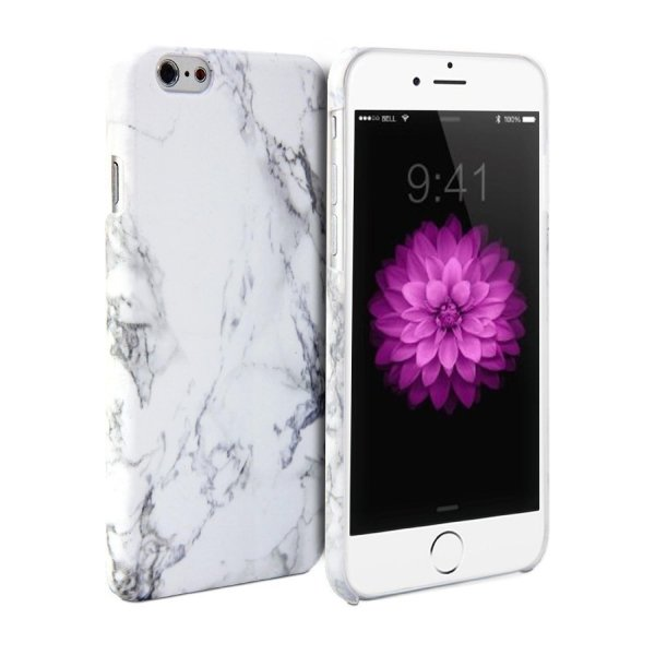 iPhone 6 Case, Rinbers White Marble Design Snap On Protective Hard Shell Back Rear Case for iPhone 6 4.7 Inch Display