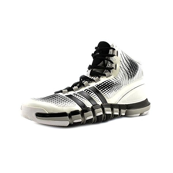 Adidas Mens Adipure Crazyquick Basketball Shoes White/Black/Metallic Silver Q33302 Size 10