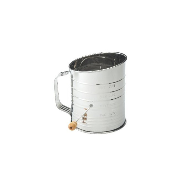 Mrs Anderson's Baking Crank Flour Sifter, 5-cup