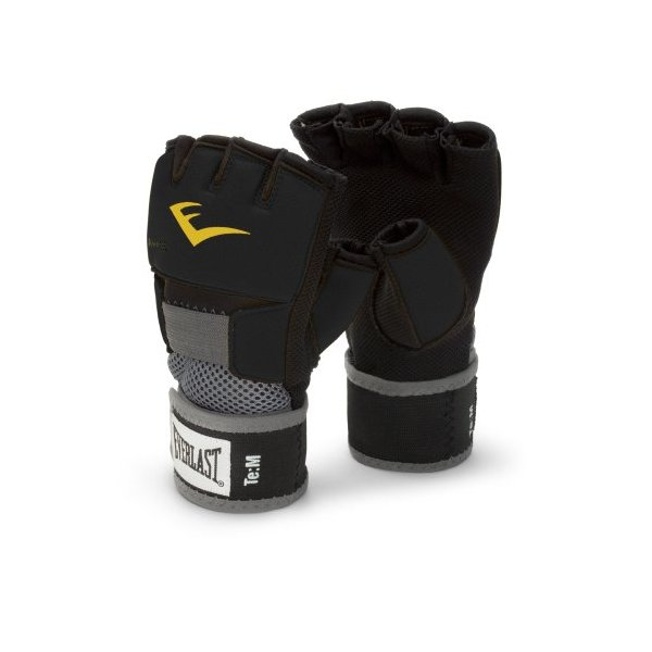 Everlast EverGel Hand Wraps (Black, Medium)