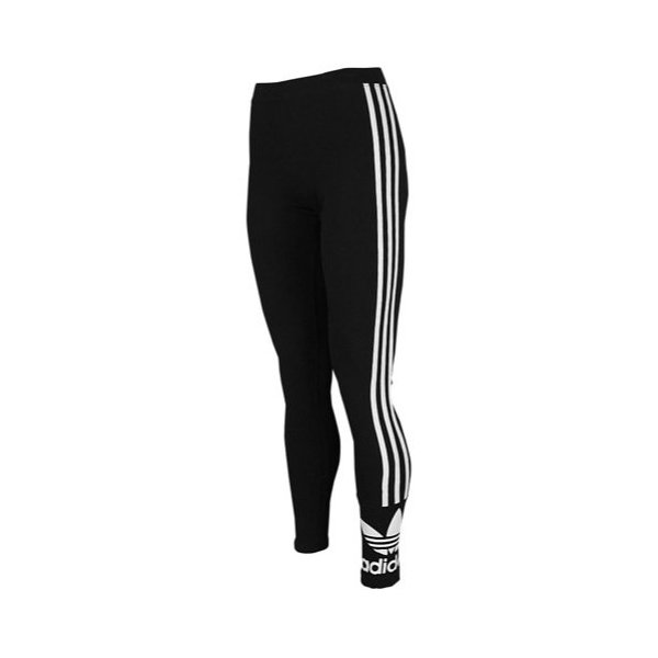 adidas Originals Women's 3-Stripes Leggings, Medium, Black/White