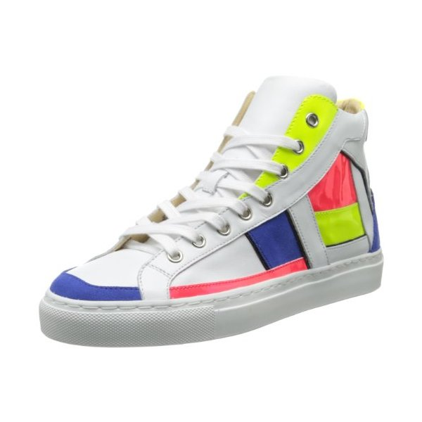 Ruthie Davis Women's Basel Fashion Sneaker,Bianco Fluoroscent Mondrian,41 EU/11 M US
