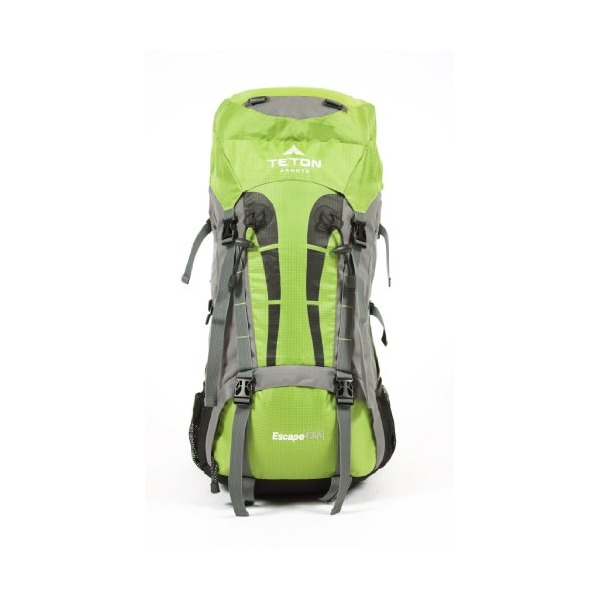 "TETON Sports Escape4300 Ultralight Internal Frame Backpack (33""x 17""x 12"", Light Green)"