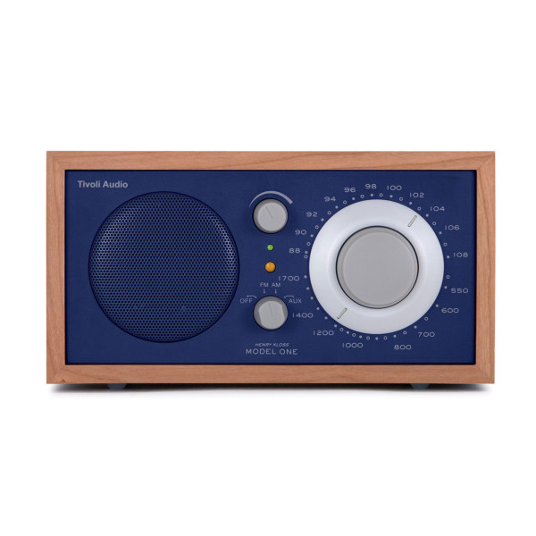 Tivoli Audio Model One AM/FM Table Radio, Cherry/Cobalt Blue