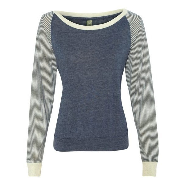 Alternative Womens Slouchy Printed Pullover