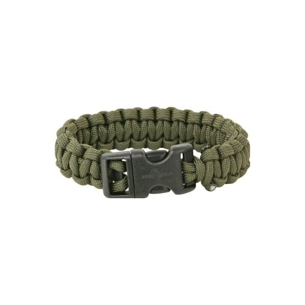 Para Cord Brands SBODM Survival Bracelet Olive Drab Size Medium with Hand Tied Military Para-Cord Construction