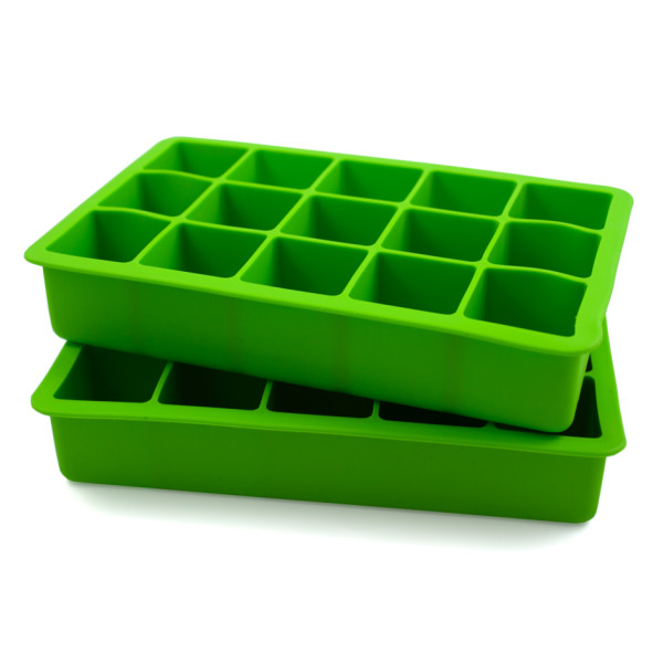 Tovolo Perfect Cube Ice Trays, Green, Set of 2