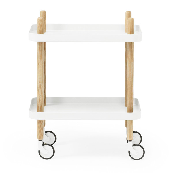 Block Table Cart by Normann Copenhagen, White