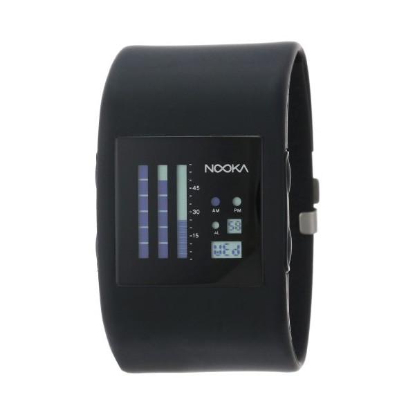 Nooka Unisex ZUB-ZENV-BK-38 Zub ZenV Black Polyurethane Watch