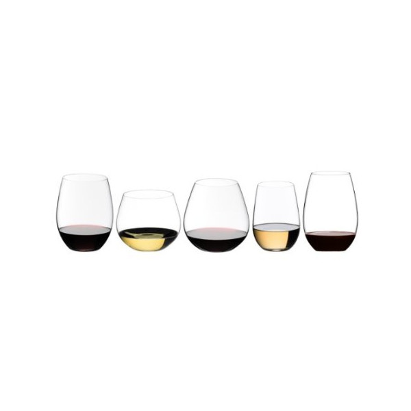 Riedel O 5 Piece Key to Wine Stemless Wine Glass Tasting Set