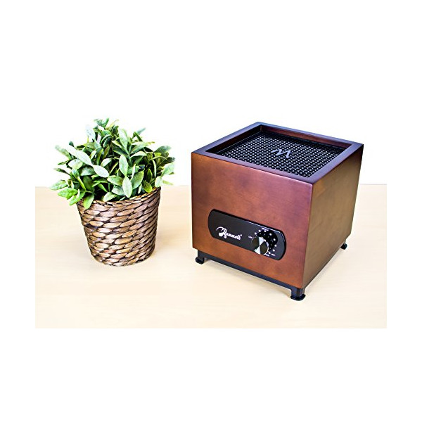 Mammoth® Q3 7 Stage Air Purifier :: Walnut Finish (HEPA, Carbon, UV, PlasmaWave) with Ice-Tech Filter