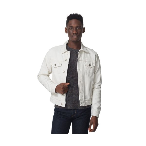 American Apparel Men's Colored Denim Jacket X-Large-White