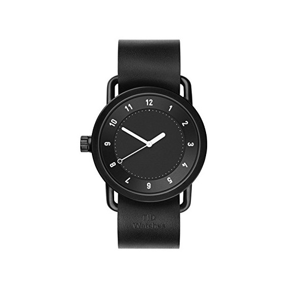 TID no. 1 Watch, Black Leather