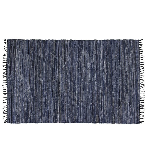 Chindi Blue Denim, Recycled Cotton, 5' x 8'