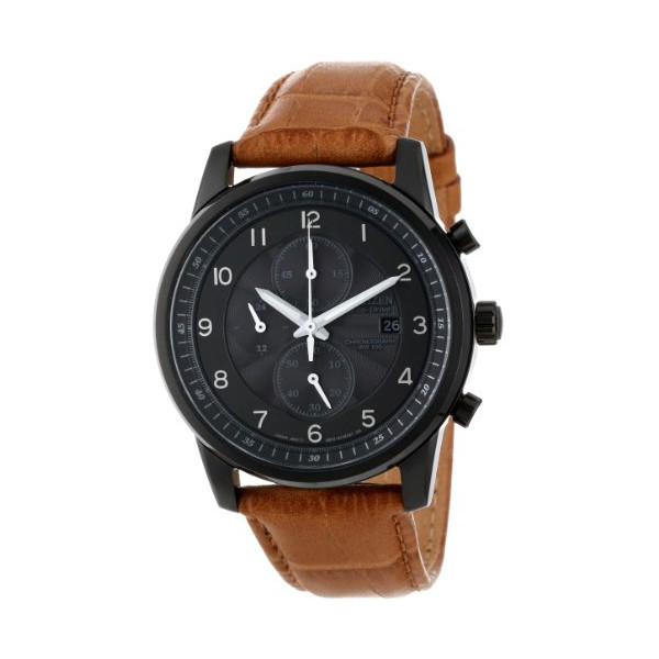Citizen Men's Eco-Drive Black Ion Plated Chronograph Watch