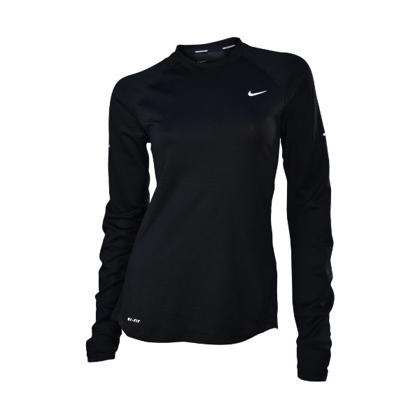 Nike Women's Wool Crew Running Shirt Top-Black