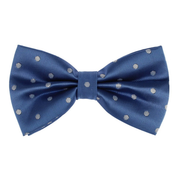 Blue Polka Dots Pre-tied Bow Tie By Dan Smith
