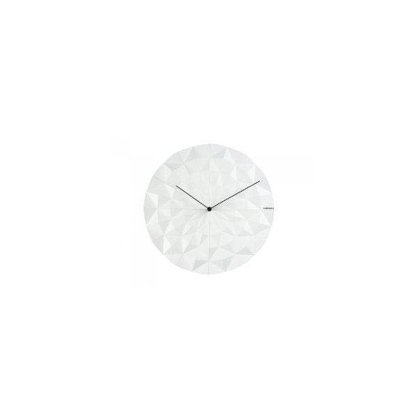 Present Time Karlsson Facet Wall Clock, White