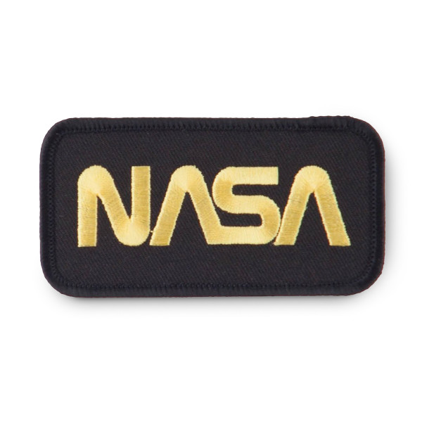 NASA Logo Embroidered Patch, Black and Yellow